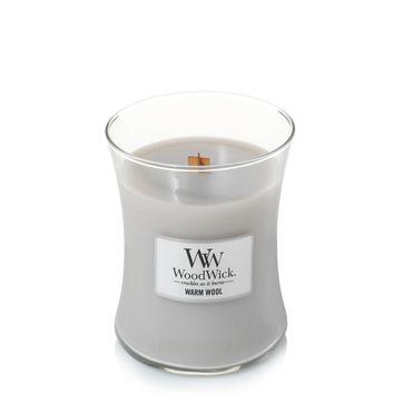 WoodWick - Warm Wool - świeca zapachowa - wełna i dzikie kwiaty - czas palenia: do 65 godzin