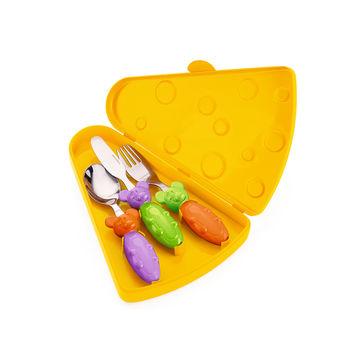 Guzzini - Tip Top Tap - zestaw sztućców dla dzieci w pudełku - 4 elementy