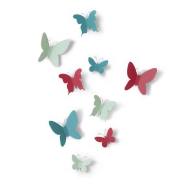Umbra - Mariposa - dekoracja ścienna - motyle - 9 elementów