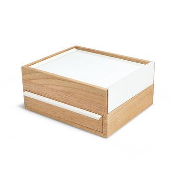 Umbra - Stowit - pudełko na biżuterię - wymiary: 26 x 23 x 12 cm