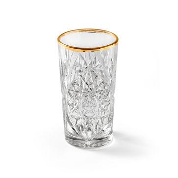 Libbey - Hobstar Gold - 2 szklanki do drinków - pojemność: 0,47 l