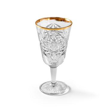 Libbey - Hobstar Gold - 2 kieliszki do wina - pojemność: 0,3 l