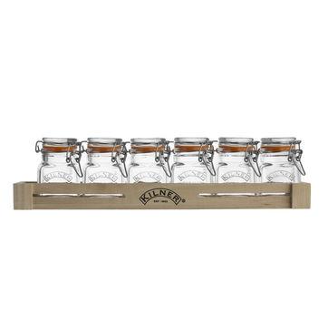 Kilner - Clip Top - zestaw 6 słoiczków na przyprawy - pojemność: 0,07 l