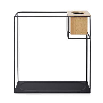 Umbra - Cubist - półka z kwietnikiem - wymiary: 38 x 11,5 x 38 cm