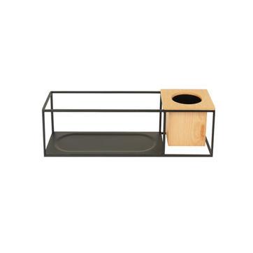 Umbra - Cubist - półka z kwietnikiem - wymiary: 38 x 11,5 x 11,5 cm