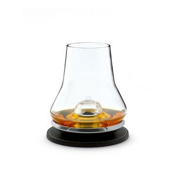 Peugeot - Les Impitoyables - zestaw do degustacji whisky - szklanka, podstawka chłodząca i podkładka