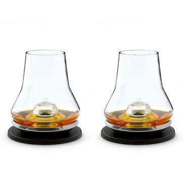 Peugeot - Esprit Club - zestaw do degustacji whisky dla 2 osób - szklanki, podstawki chłodzące i podkładki