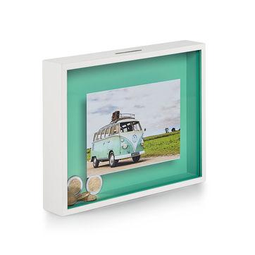 Philippi - Bank - ramka na zdjęcia ze skarbonką - wymiary: 23 x 4 x 18 cm