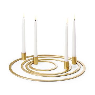 Philippi - Four Rings - świecznik adwentowy - średnica: 40 cm