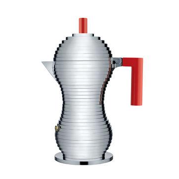 Alessi - Pulcina - kafeteria aluminiowa - pojemność: 0,15 l