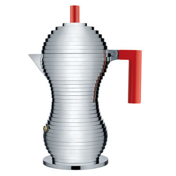 Alessi - Pulcina - kafeteria aluminiowa - pojemność: 0,3 l