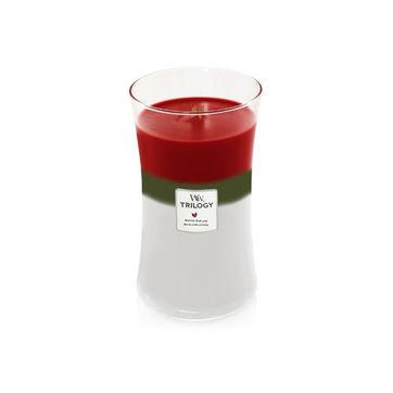 WoodWick - Winter Garland - potrójna świeca zapachowa - zimowy poranek - czas palenia: do 120 godzin