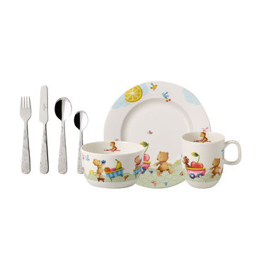 Villeroy & Boch - Hungry as a Bear - zestaw naczyń i sztućców dla dzieci - 7 elementów