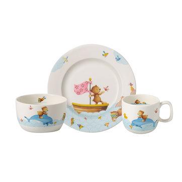Villeroy & Boch - Happy as a Bear - zestaw naczyń dla dzieci - 3 elementy