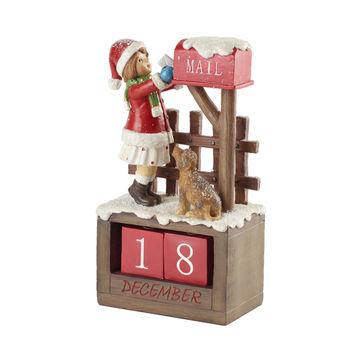 Villeroy & Boch - Winter Bakery 2019 - kalendarz adwentowy - skrzynka na listy - wymiary: 12,5 x 8 x 22,5 cm