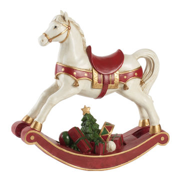 Villeroy & Boch - Christmas Toys 2019 - figurka - koń na biegunach - wymiary: 33 x 11 x 32,5 cm