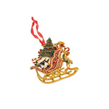 Villeroy & Boch - Christmas Toys 2019 - zawieszka - sanie - wysokość: 10 cm
