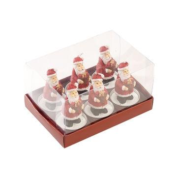 Villeroy & Boch - Christmas Toys 2019 - 6 świec typu tealight - Mikołaje - wysokość: 5,5 cm