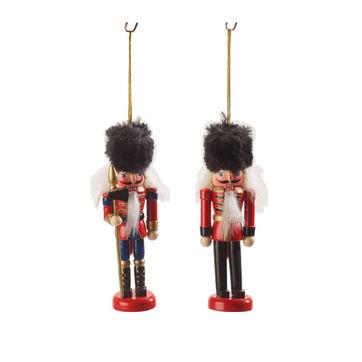Villeroy & Boch - Christmas Toys 2019 - 2 zawieszki - Dziadek do orzechów - wysokość: 12 cm