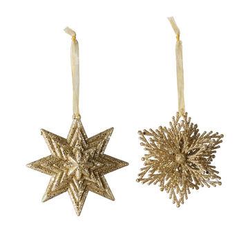 Villeroy & Boch - Christmas Decoration - 2 zawieszki - średnica: 10 cm
