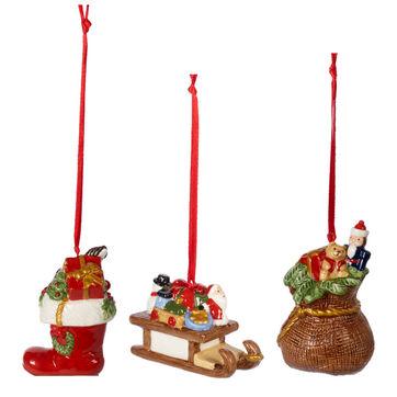 Villeroy & Boch - Nostalgic Ornaments - 3 zawieszki - prezenty - wysokość: 6,5 cm