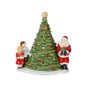 Villeroy & Boch - Christmas Toys - lampion - Mikołaj przy choince - wymiary: 20 x 17 x 23 cm