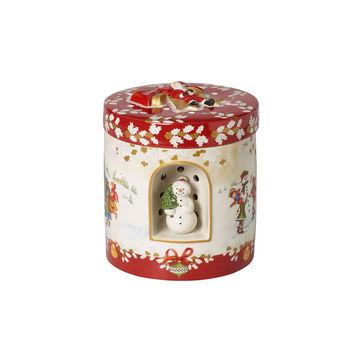 Villeroy & Boch - Christmas Toys - pudełko-lampion z pozytywką - wysokość: 20 cm