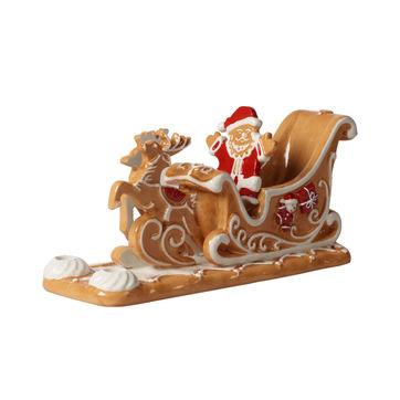 Villeroy & Boch - Winter Bakery Decoration - świecznik - sanie Mikołaja - wymiary: 23 x 8 x 10 cm