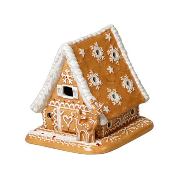 Villeroy & Boch - Winter Bakery Decoration - lampion - piernikowa chatka - wymiary: 15 x 13 x 14 cm