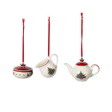 Villeroy & Boch - Toy's Delight Decoration - 3 zawieszki - serwis kawowy - wysokość: 6 cm