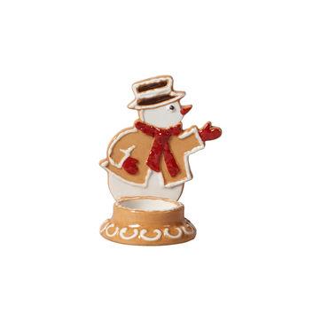 Villeroy & Boch - Winter Bakery Decoration - świecznik na tealight - piernikowy bałwan - wysokość: 11 cm