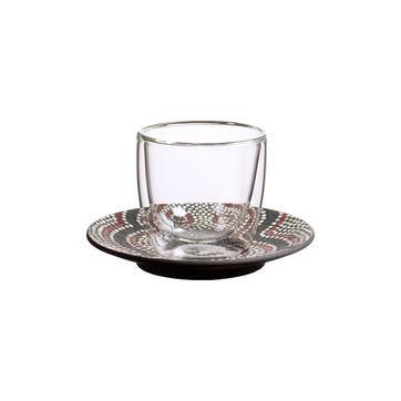 Villeroy & Boch - Manufacture Rock Desert - szklanka do espresso ze spodkiem - pojemność: 0,11 l; podwójne ścianki