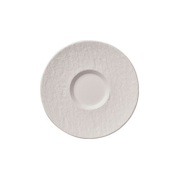 Villeroy & Boch - Manufacture Rock blanc - spodek do filiżanki do kawy z mlekiem - średnica: 17 cm