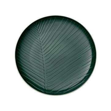 Villeroy & Boch - it's my match green - talerz uniwersalny - średnica: 24 cm; wzór: liść