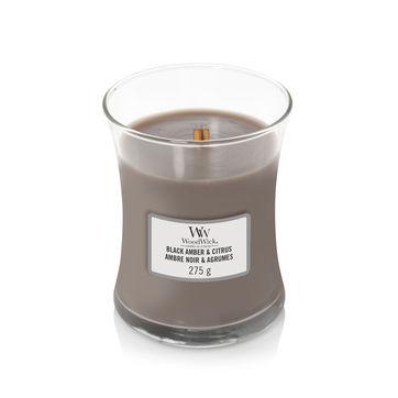 WoodWick - Black Amber & Citrus - świeca zapachowa - czarny bursztyn - czas palenia: do 65 godzin