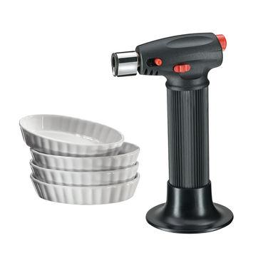 Küchenprofi - zestaw do crème brûlée - 4 naczynia i palnik