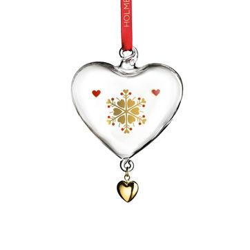 Holmegaard - Christmas - zawieszka serce - wysokość: 8 cm; płatek śniegu