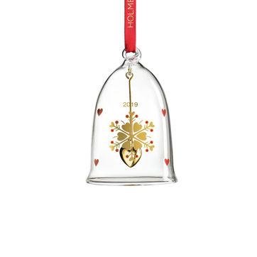 Holmegaard - Christmas - zawieszka dzwonek - wysokość: 8 cm; płatek śniegu