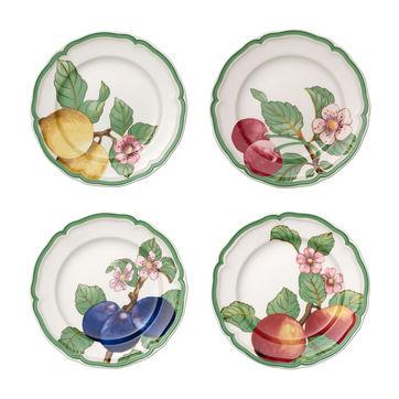 Villeroy & Boch - French Garden Modern Fruits - zestaw 4 talerzy sałatkowych - średnica: 21 cm