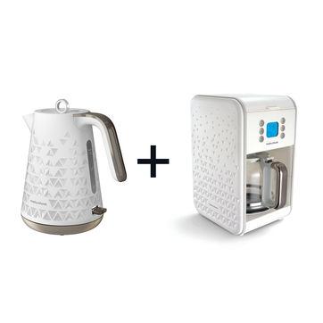 Morphy Richards - Prism Jug - czajnik elektryczny + ekspres do kawy