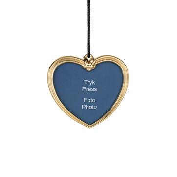 Rosendahl - Karen Blixen's Christmas - zawieszka serce z miejscem na zdjęcie - wysokość: 6,5 cm