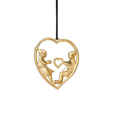 Rosendahl - Karen Blixen's Christmas - zawieszka serce z elfami - wysokość: 7 cm