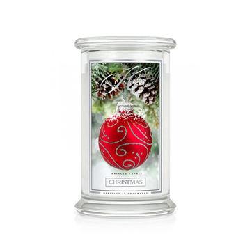 Kringle Candle - Christmas - świeca zapachowa - choinka przy kominku - czas palenia: do 100 godzin