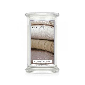 Kringle Candle - Comfy Sweater - świeca zapachowa - puder i wanilia - czas palenia: do 100 godzin