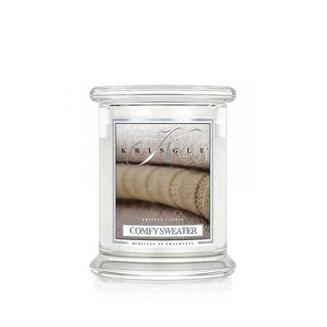 Kringle Candle - Comfy Sweater - świeca zapachowa - puder i wanilia - czas palenia: do 75 godzin