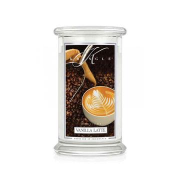 Kringle Candle - Vanilla Latte - świeca zapachowa - kremowa kawa - czas palenia: do 100 godzin