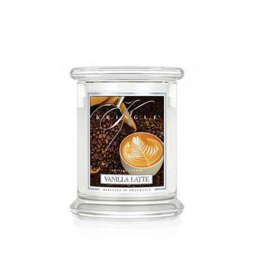 Kringle Candle - Vanilla Latte - świeca zapachowa - kremowa kawa - czas palenia: do 75 godzin