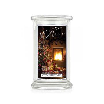 Kringle Candle - Cozy Christmas - świeca zapachowa - las iglasty - czas palenia: do 100 godzin