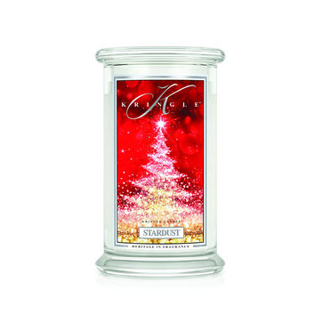 Kringle Candle - Stardust - świeca zapachowa - kwiaty i bursztyn - czas palenia: do 100 godzin