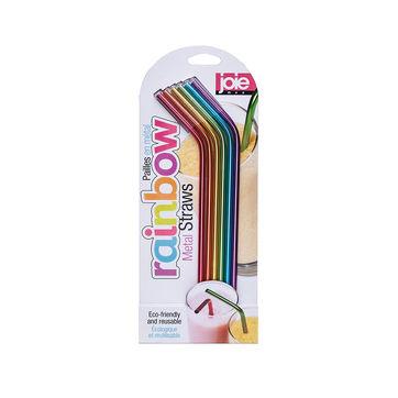 MSC - Rainbow - 6 słomek ze stali nierdzewnej - ze szczoteczką do czyszczenia
